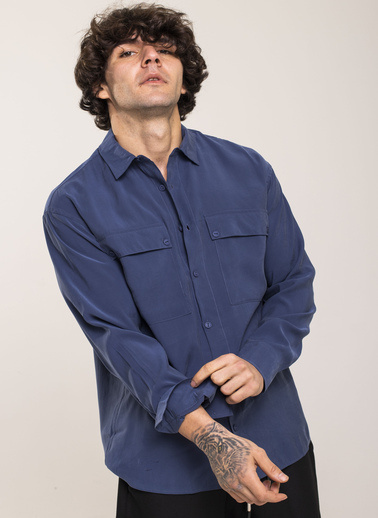 XHAN Gömlek İndigo